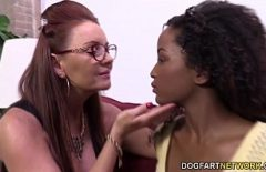 The Black Woman And Her Neighbor Fuck To Break Up With Her Gifted Lover