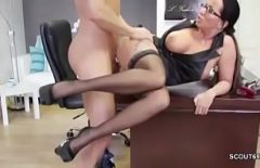 The Nymphomaniac Fucked Hard In Her Office As She Knows Best