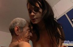 80-year-old Mojneag Can Still Fuck A Brunette In Her Pussy