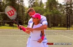 Sportsman Fucks On The Tennis Court With A Good Tennis Player