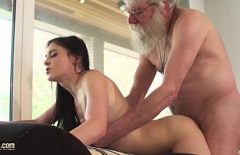 Download Porn Movie With Bearded Grandpa Fucks Her Granddaughter On Her Back
