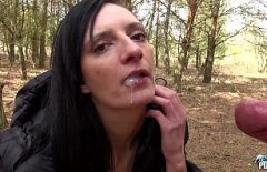 Brunette Is Fucked On The Blanket In The Forest With Fir Xxx