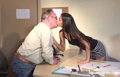 Big Brunette Young Woman Having Sex With Her 68-year-old Boss