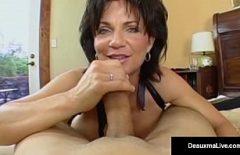 Romantic Sex In Bed With A Big Tits Mature Blowjob