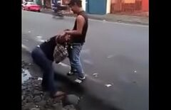 Colombianca Filmed On The Street While Sucking Cock At An Auroch