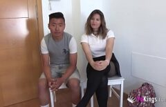 An Asian With A Big Cock Fucks Well In The Pussy And Ass Of A Spaniard